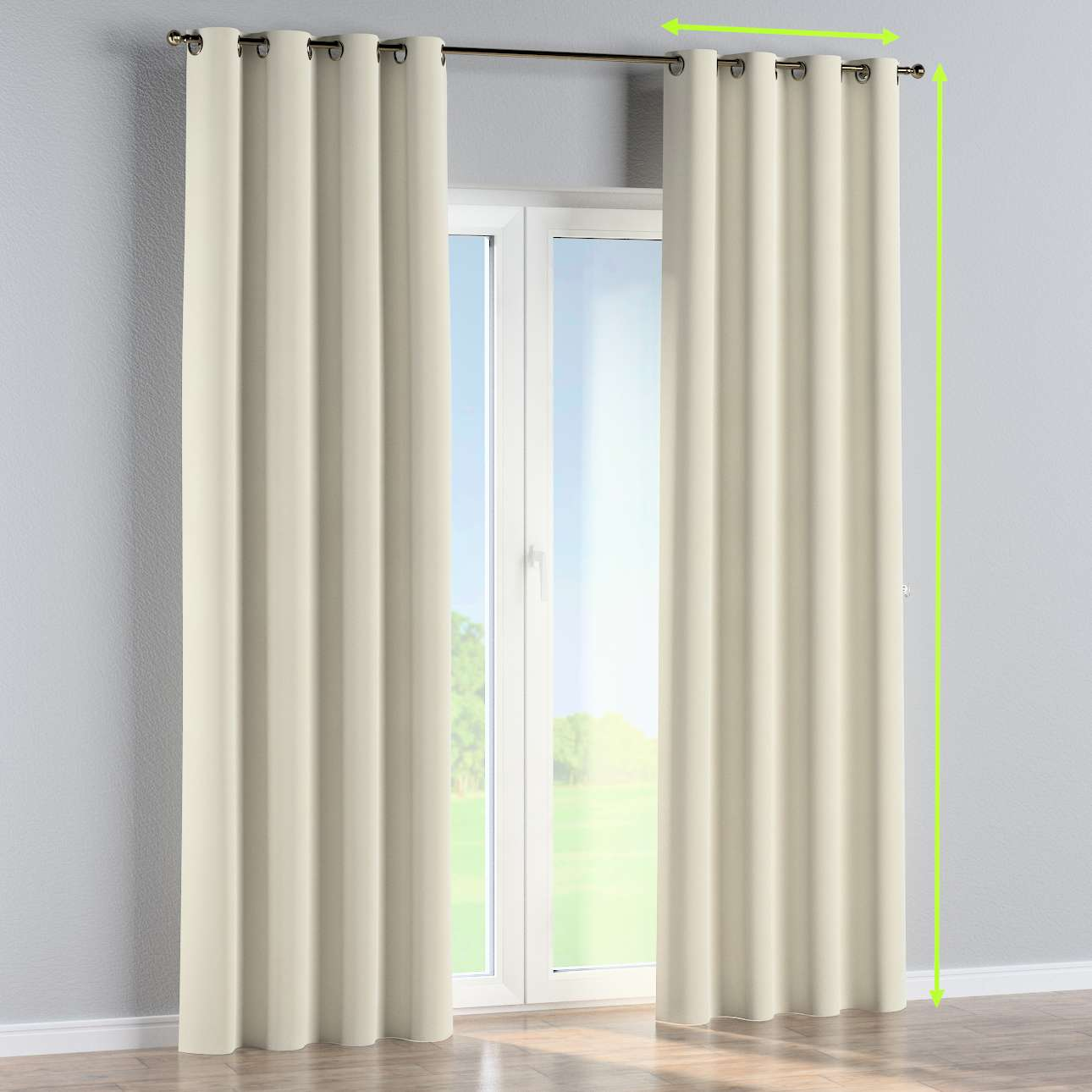 Eyelet lined curtains in collection Velvet, fabric: 704-10