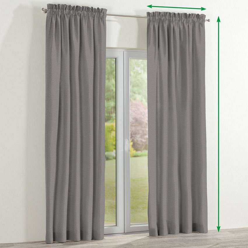Slot and frill lined curtains in collection Edinburgh, fabric: 115-81