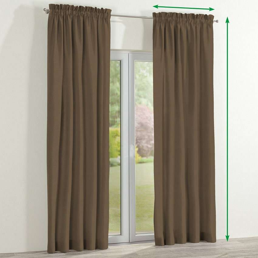Slot and frill lined curtains in collection Edinburgh, fabric: 115-85