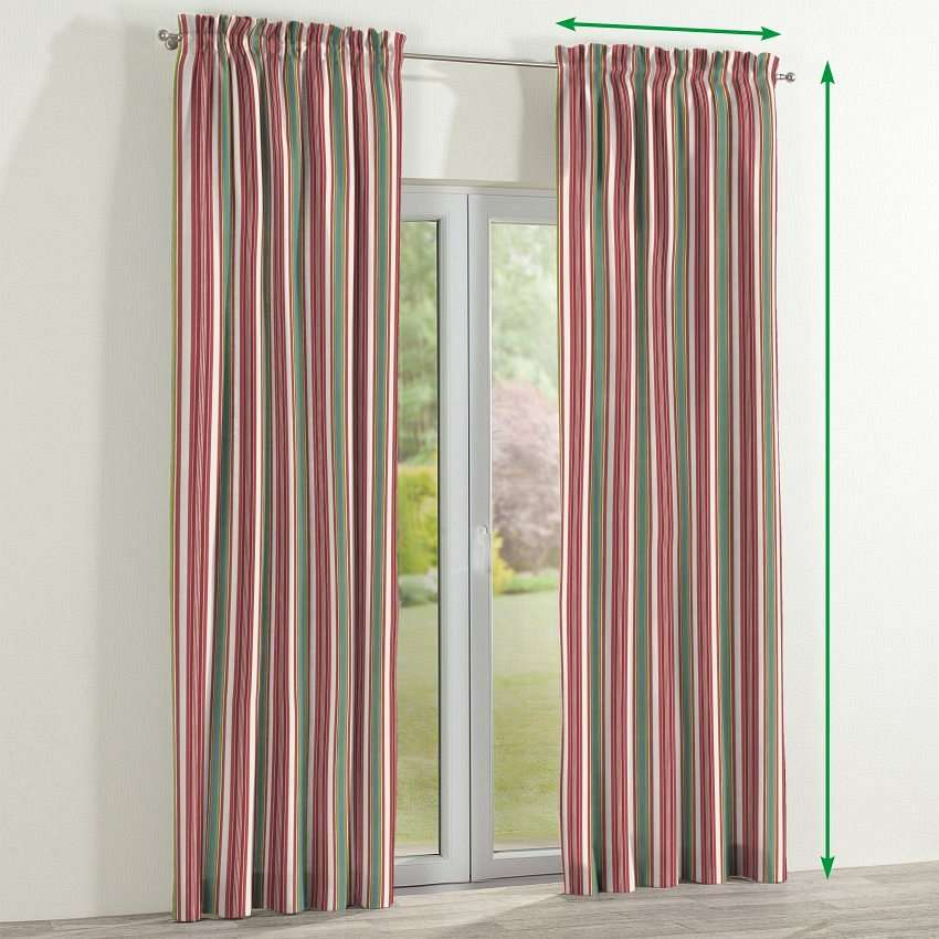 Slot and frill lined curtains in collection Londres, fabric: 122-01