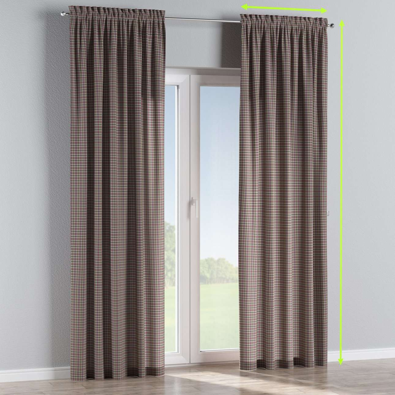 Slot and frill lined curtains in collection Bristol, fabric: 126-32