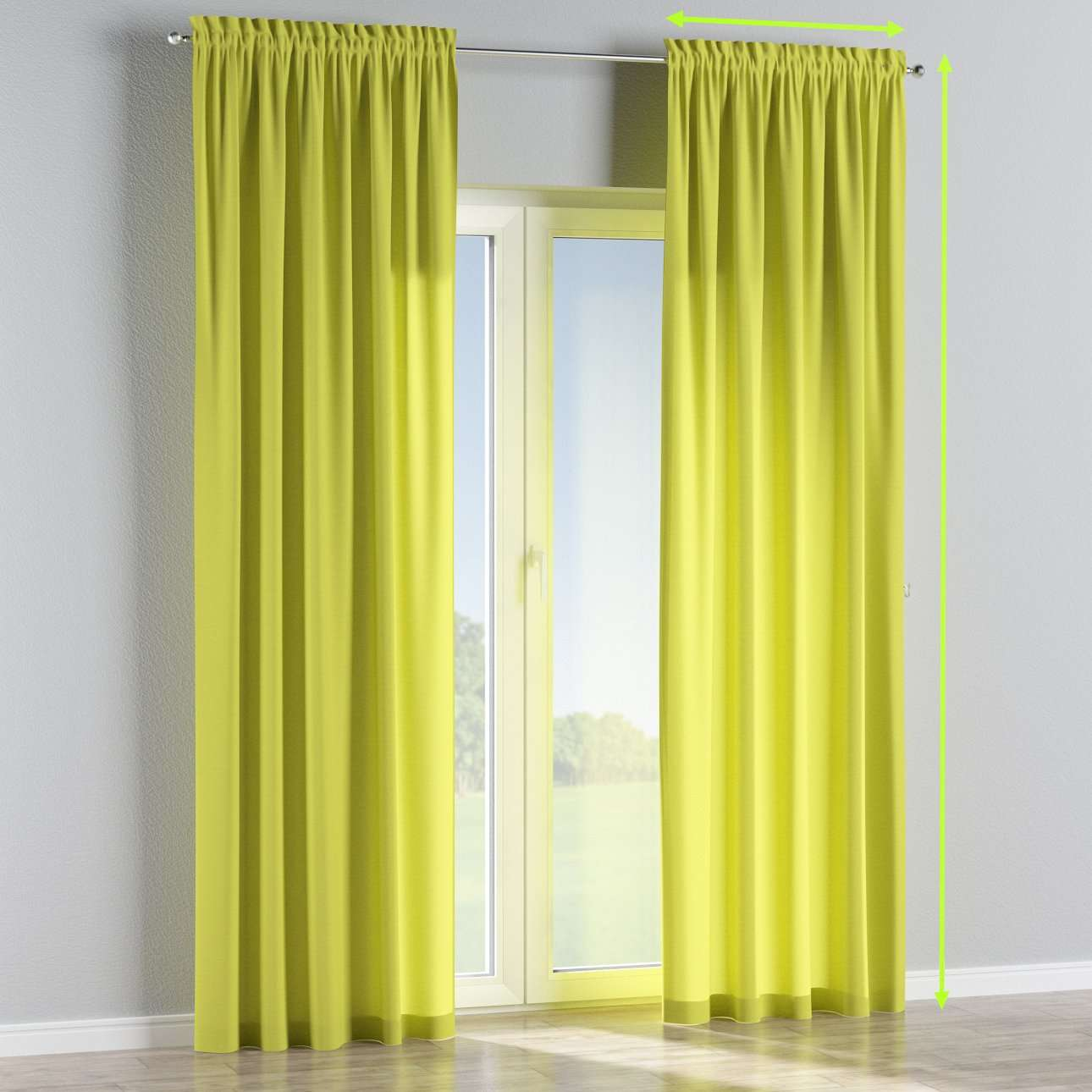 Slot and frill lined curtains in collection Jupiter, fabric: 127-50