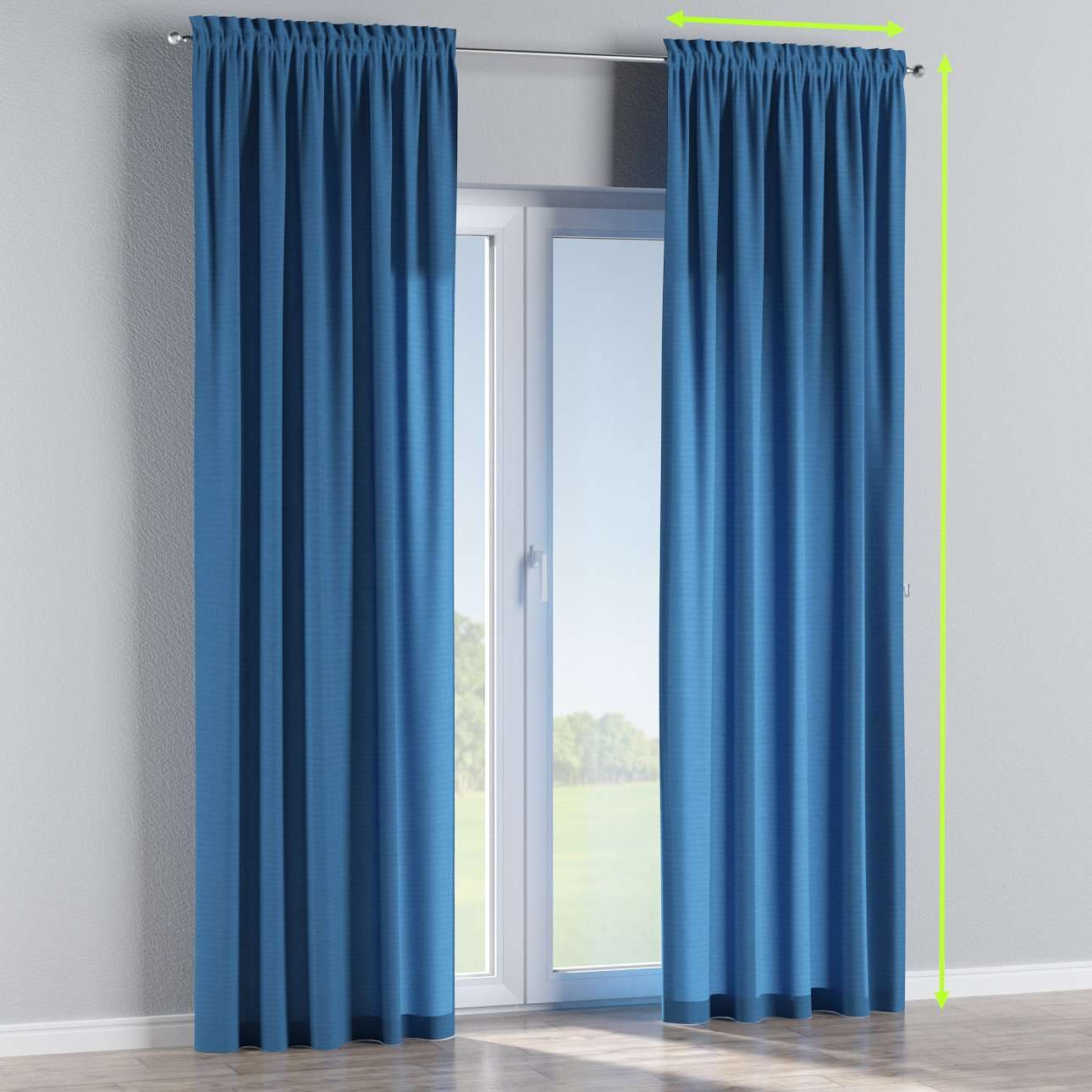 Slot and frill lined curtains in collection Jupiter, fabric: 127-61