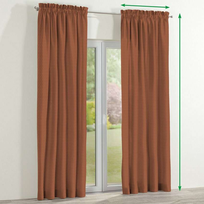 Slot and frill lined curtains in collection Victoria, fabric: 130-08
