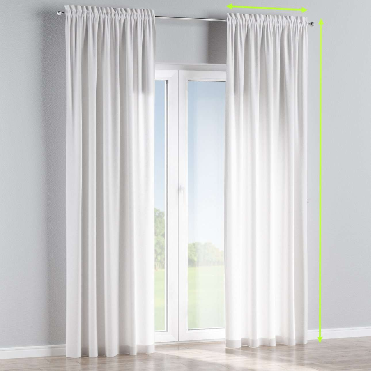 Slot and frill lined curtains in collection Loneta , fabric: 133-02