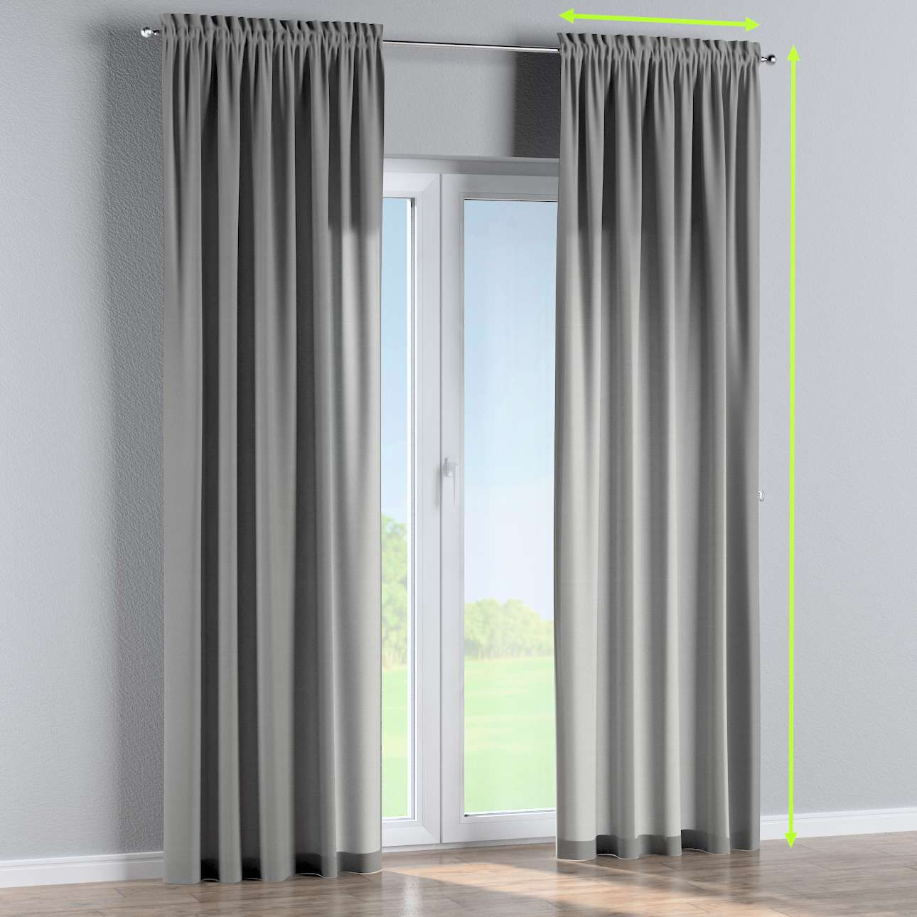 Slot and frill lined curtains in collection Loneta , fabric: 133-24