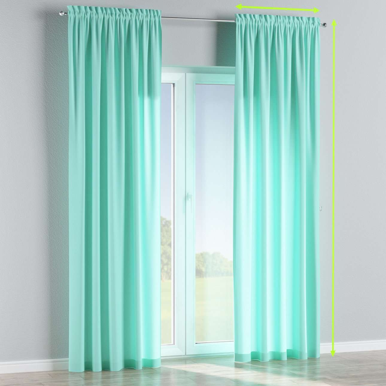 Slot and frill lined curtains in collection Loneta , fabric: 133-32