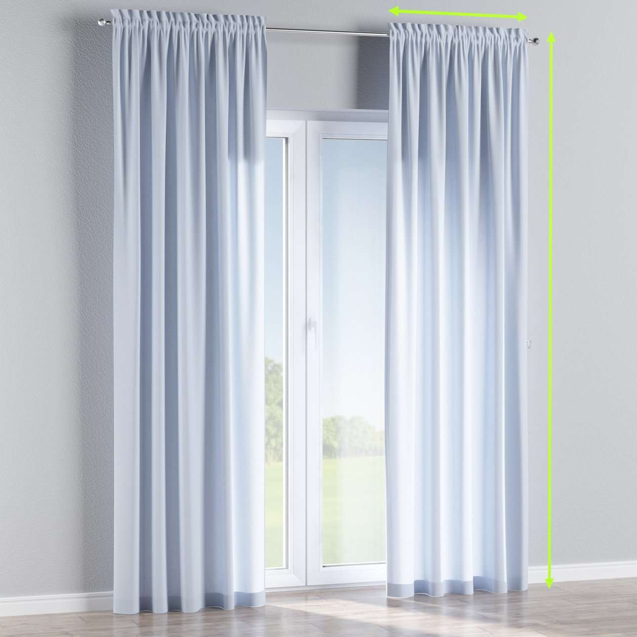 Slot and frill lined curtains in collection Loneta , fabric: 133-35