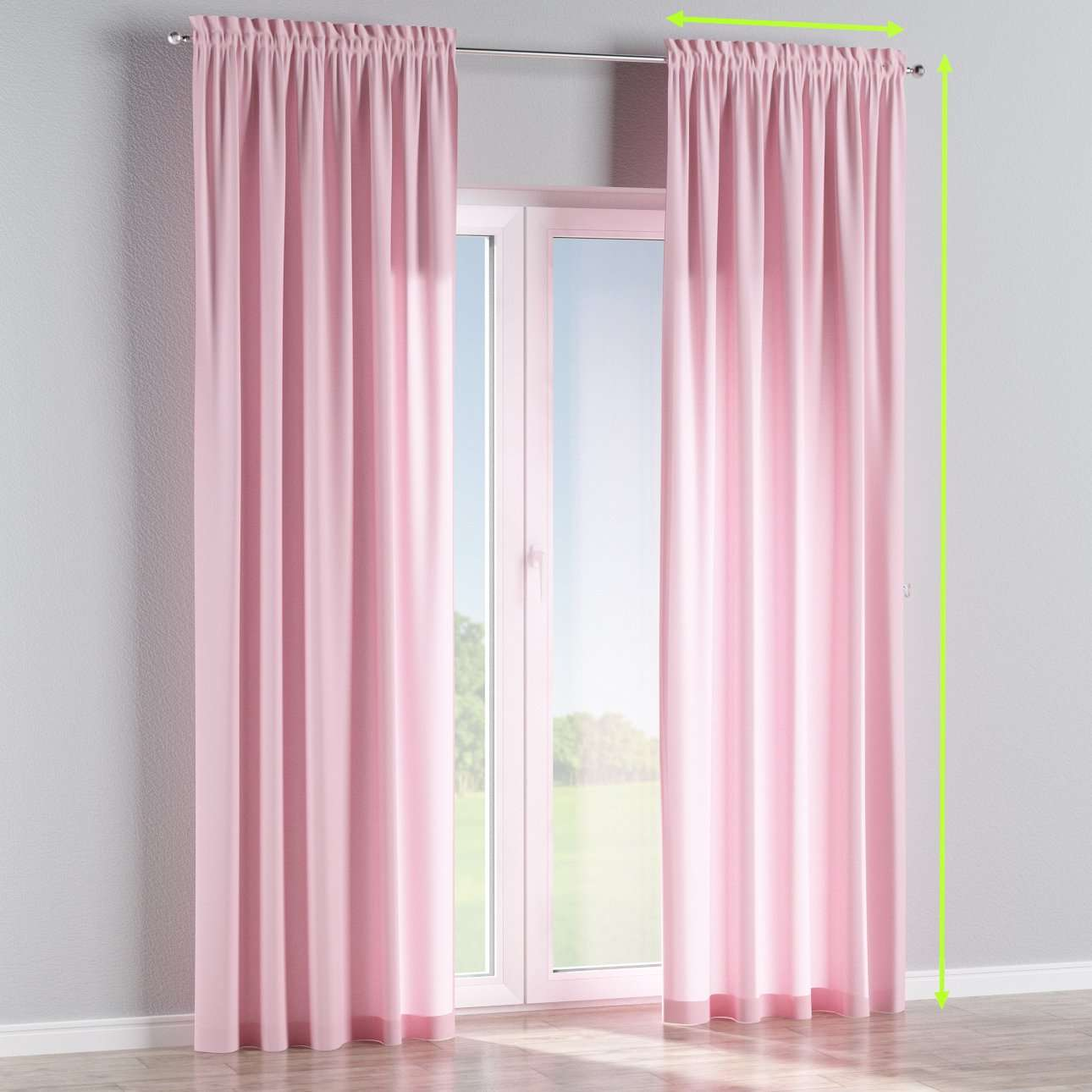 Slot and frill lined curtains in collection Loneta , fabric: 133-36