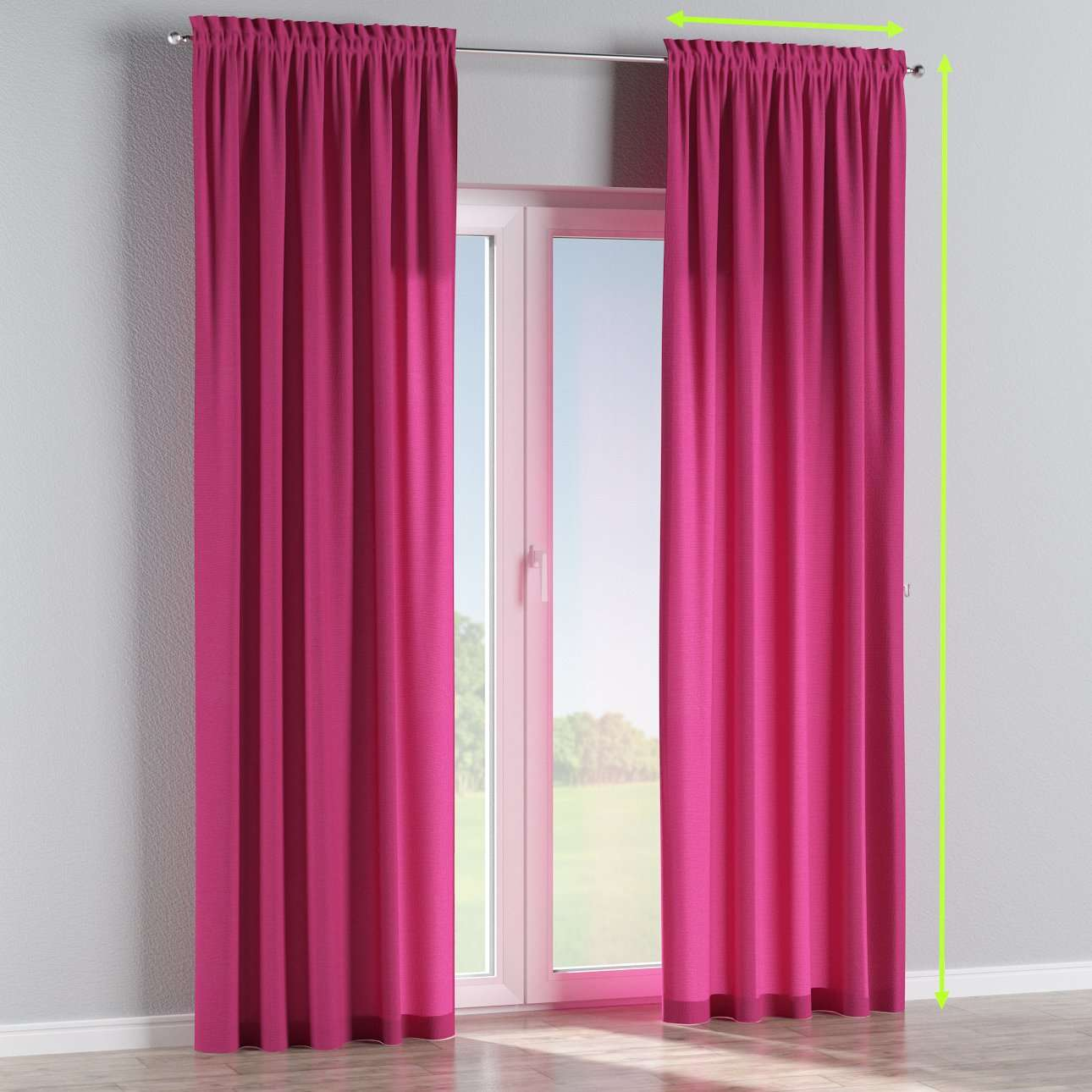 Slot and frill lined curtains in collection Loneta , fabric: 133-60