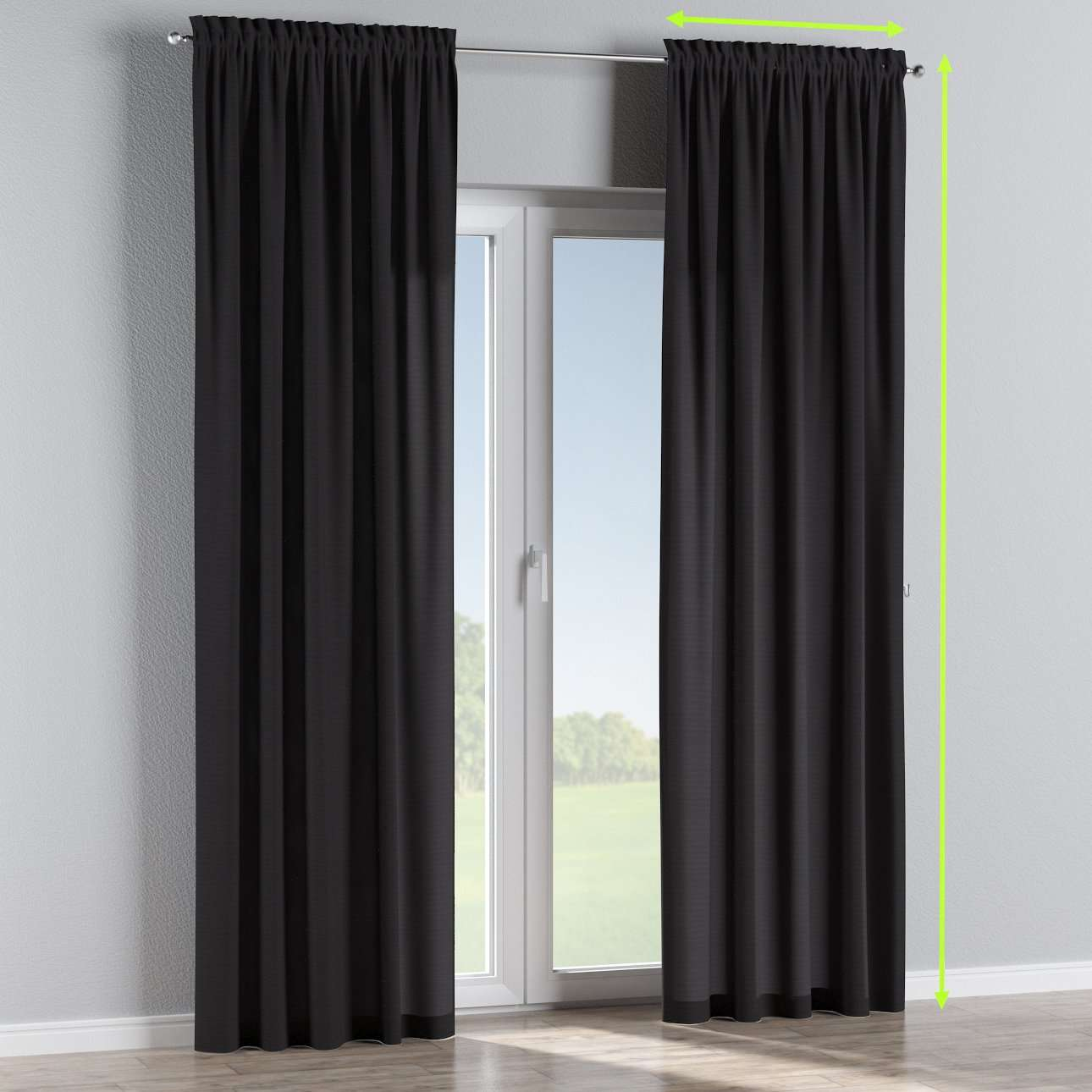 Slot and frill lined curtains in collection Loneta , fabric: 133-99