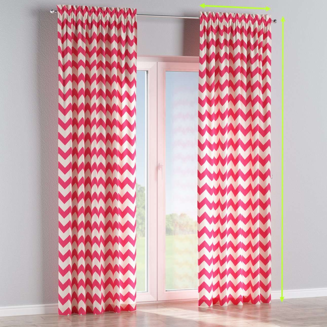 Slot and frill lined curtains in collection Comic Book & Geo Prints, fabric: 135-00