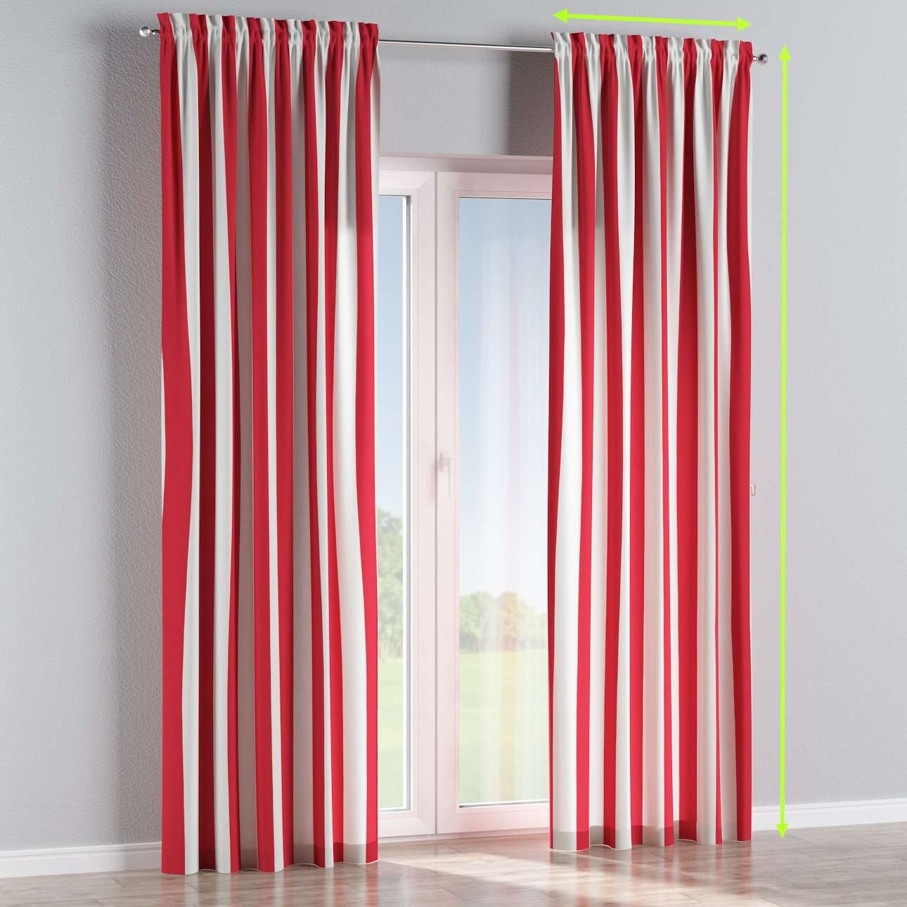Slot and frill lined curtains in collection Comic Book & Geo Prints, fabric: 137-54