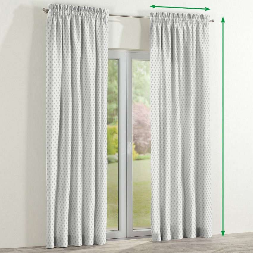 Slot and frill lined curtains in collection Ashley, fabric: 137-68
