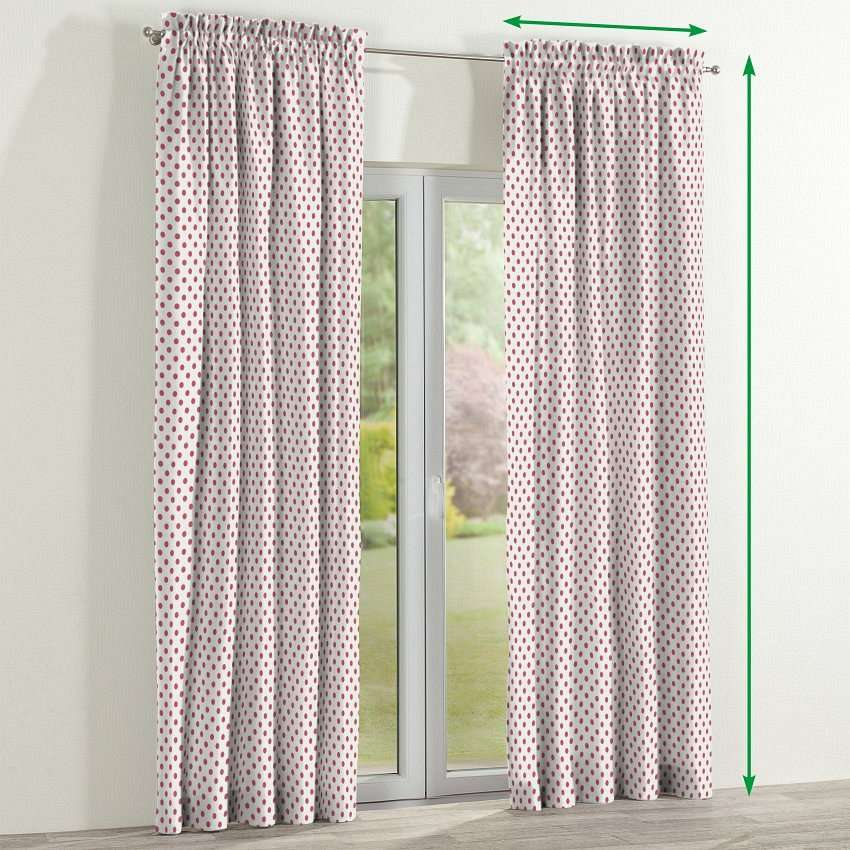 Slot and frill lined curtains in collection Ashley, fabric: 137-70