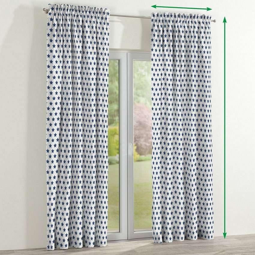 Slot and frill lined curtains in collection Ashley, fabric: 137-71
