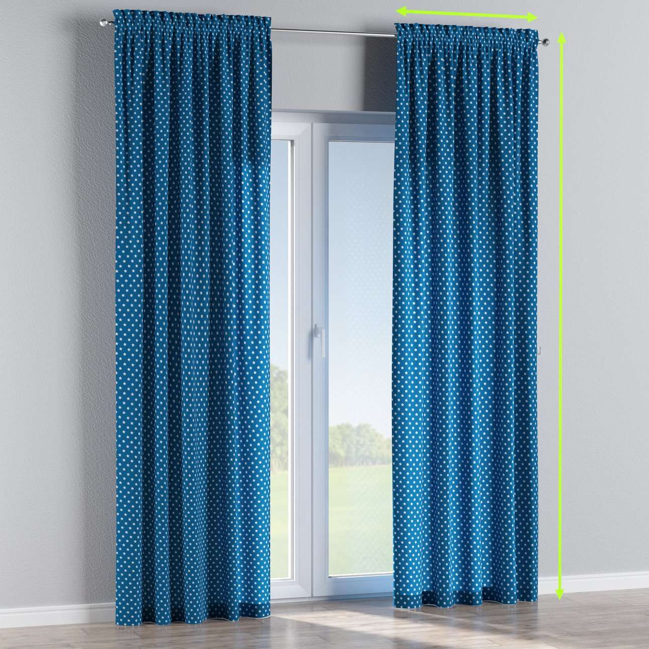 Slot and frill lined curtains in collection Ashley, fabric: 137-72