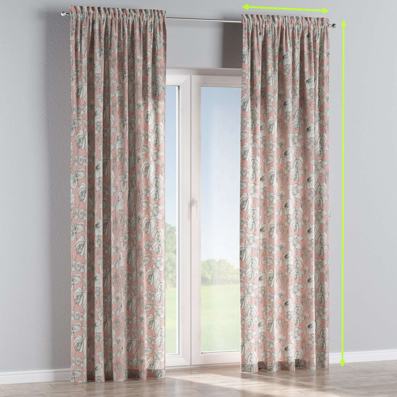 Slot and frill lined curtains in collection Brooklyn, fabric: 137-74