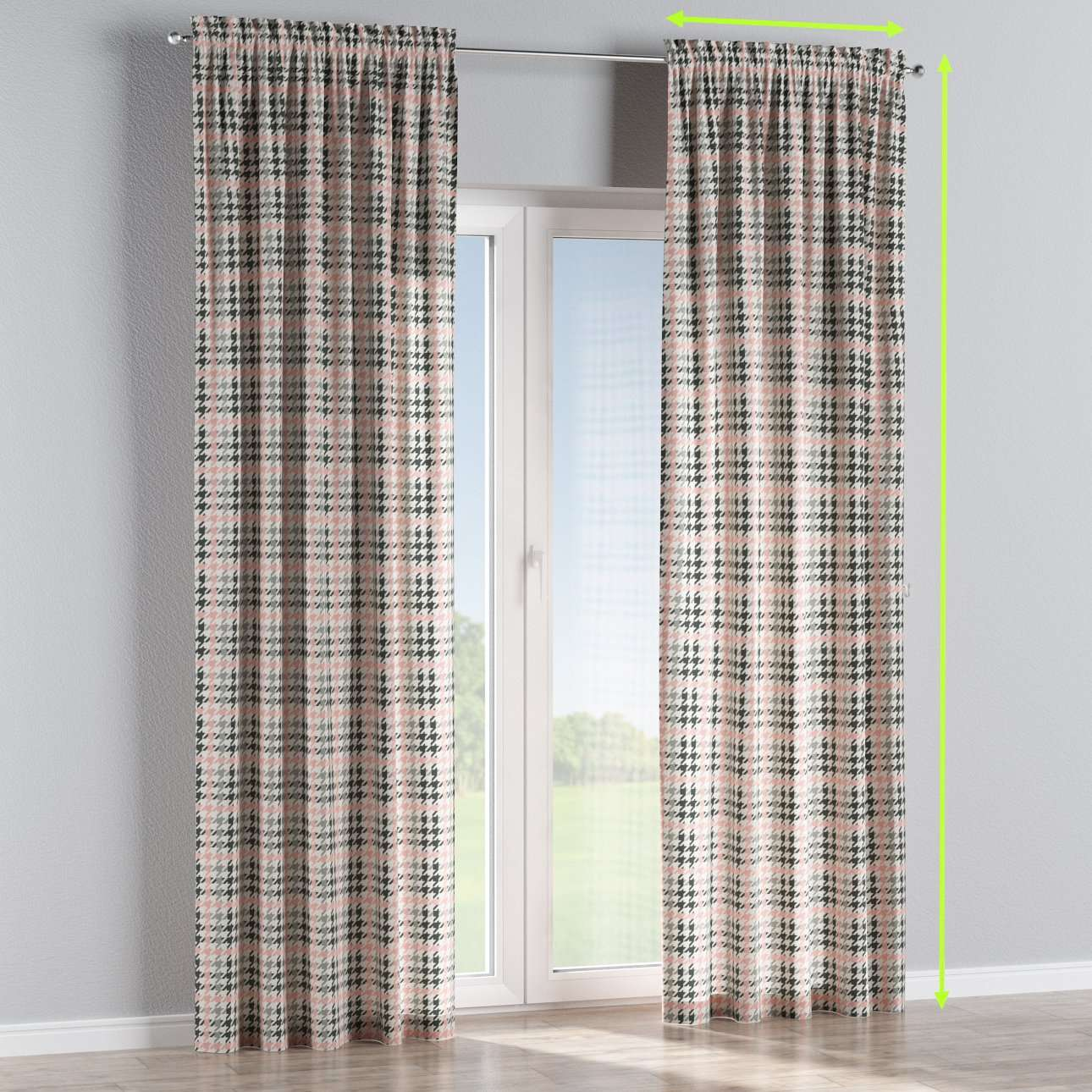 Slot and frill lined curtains in collection Brooklyn, fabric: 137-75