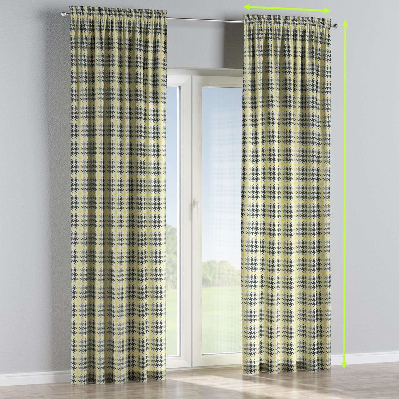 Slot and frill lined curtains in collection Brooklyn, fabric: 137-79