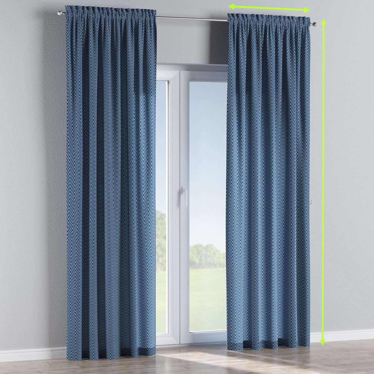Slot and frill lined curtains in collection Brooklyn, fabric: 137-88