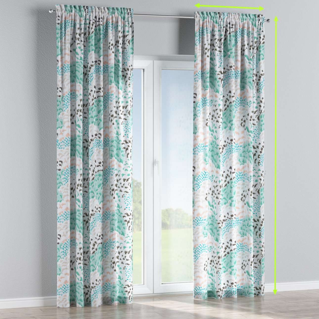 Slot and frill lined curtains in collection Brooklyn, fabric: 137-89
