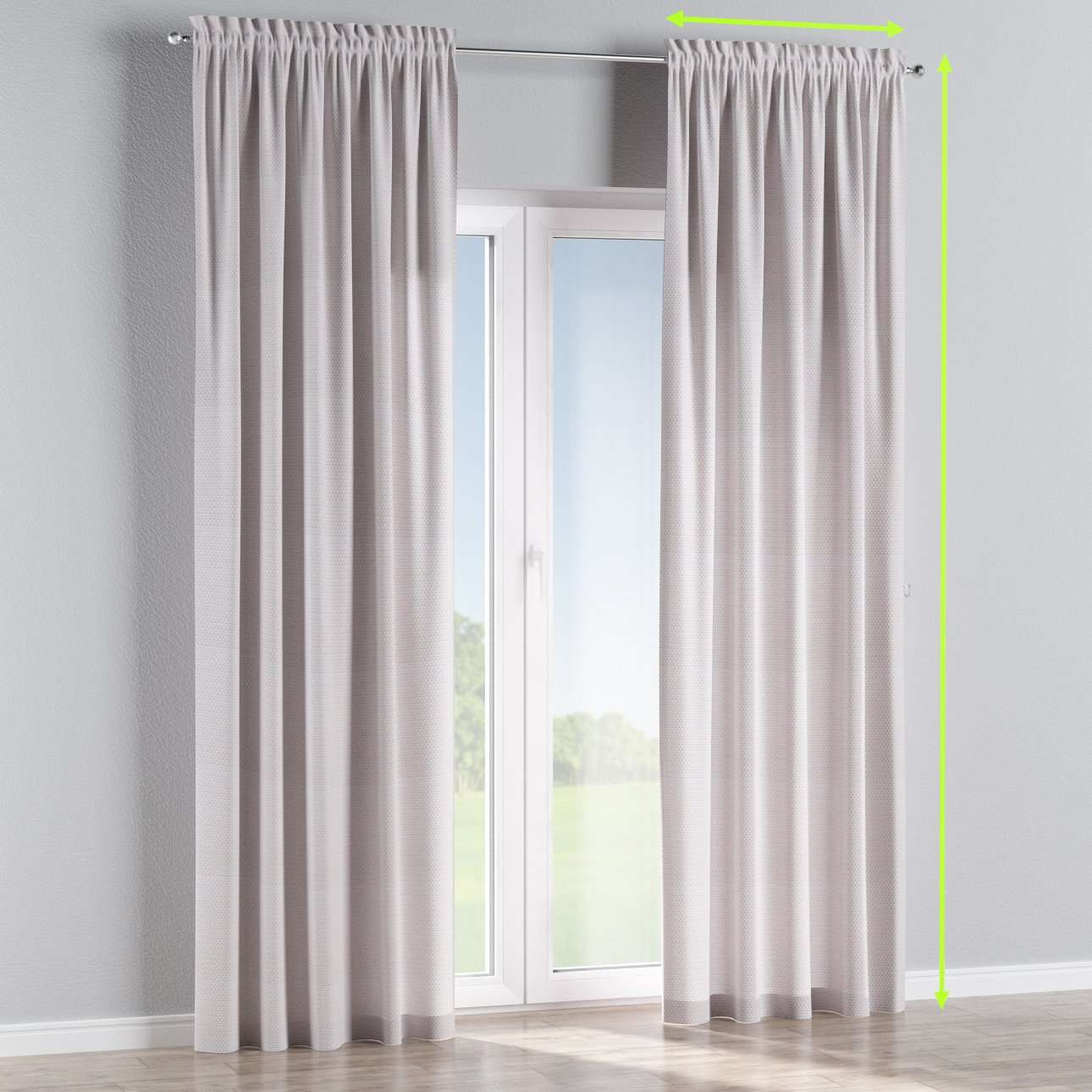 Slot and frill lined curtains in collection Rustica, fabric: 140-28