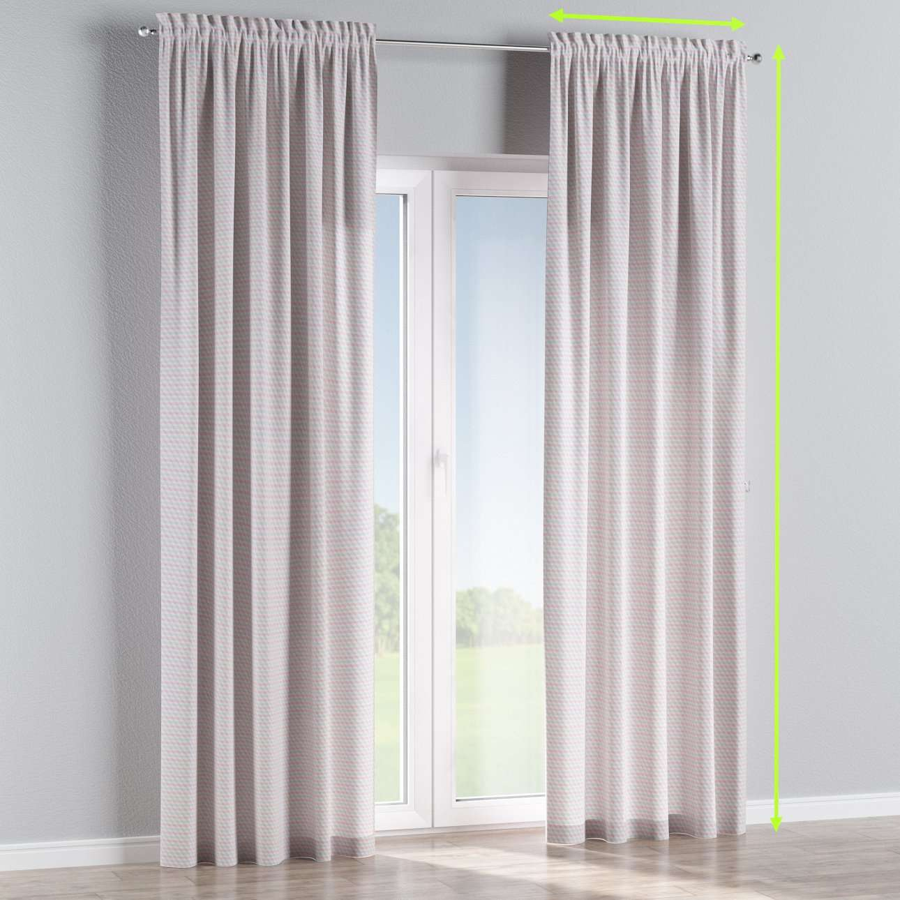 Slot and frill lined curtains in collection Rustica, fabric: 140-30