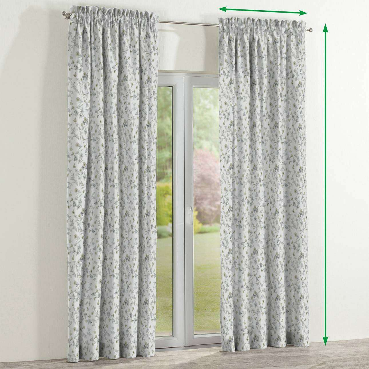 Slot and frill lined curtains in collection Mirella, fabric: 140-42