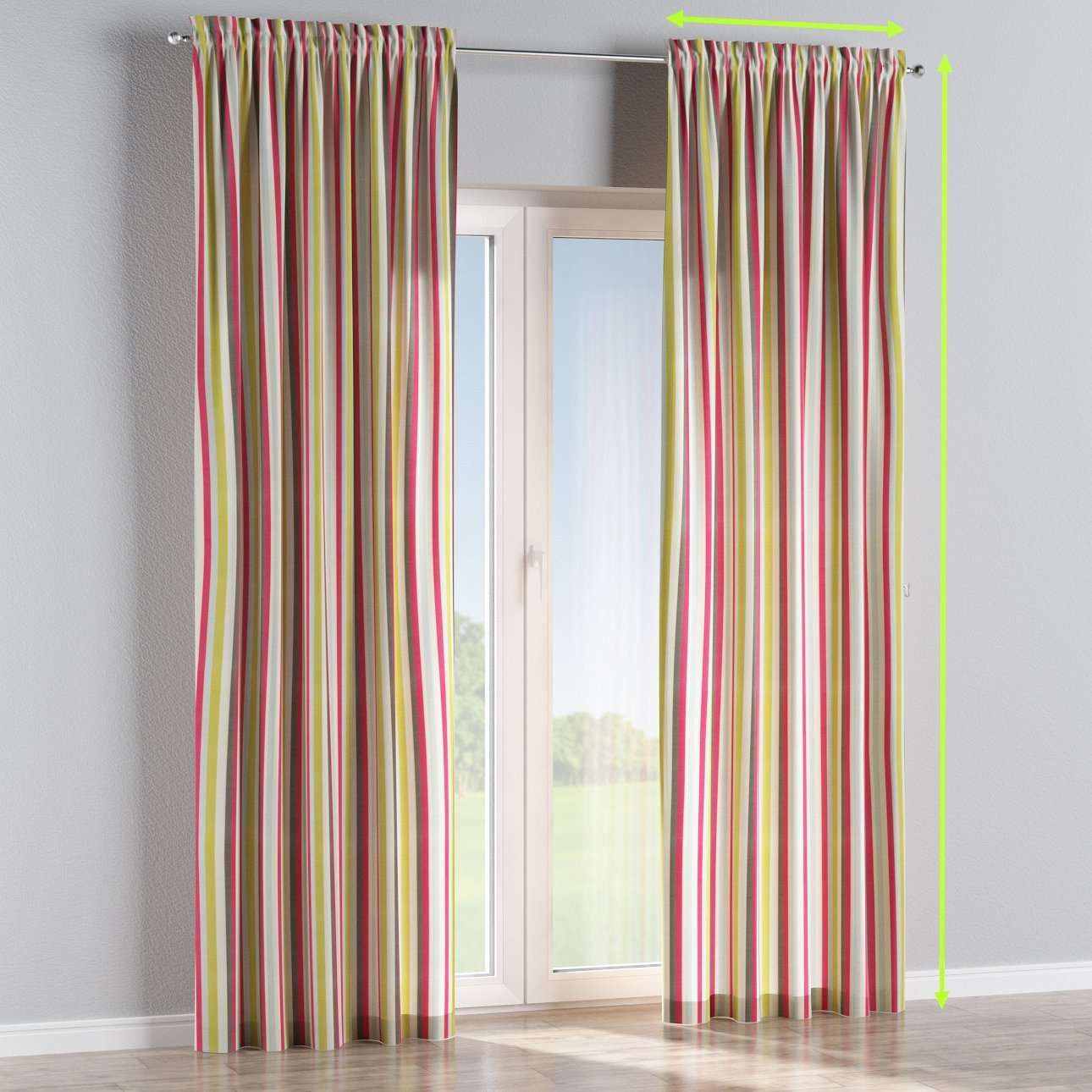 Slot and frill lined curtains in collection Norge, fabric: 140-81
