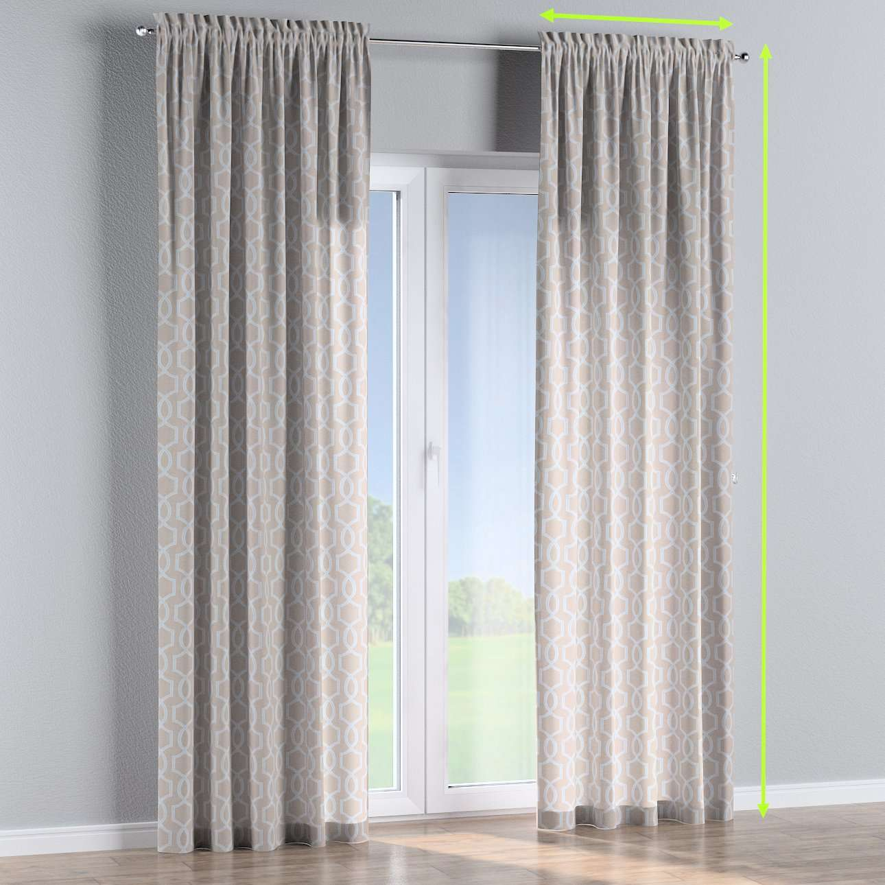 Slot and frill lined curtains in collection Comics/Geometrical, fabric: 141-26