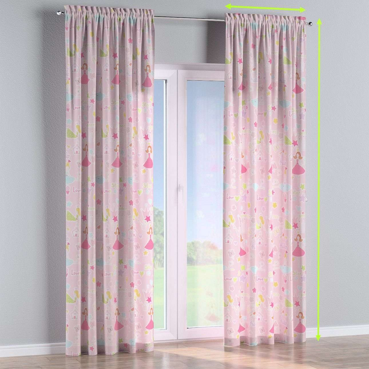 Slot and frill lined curtains in collection Little World, fabric: 141-50