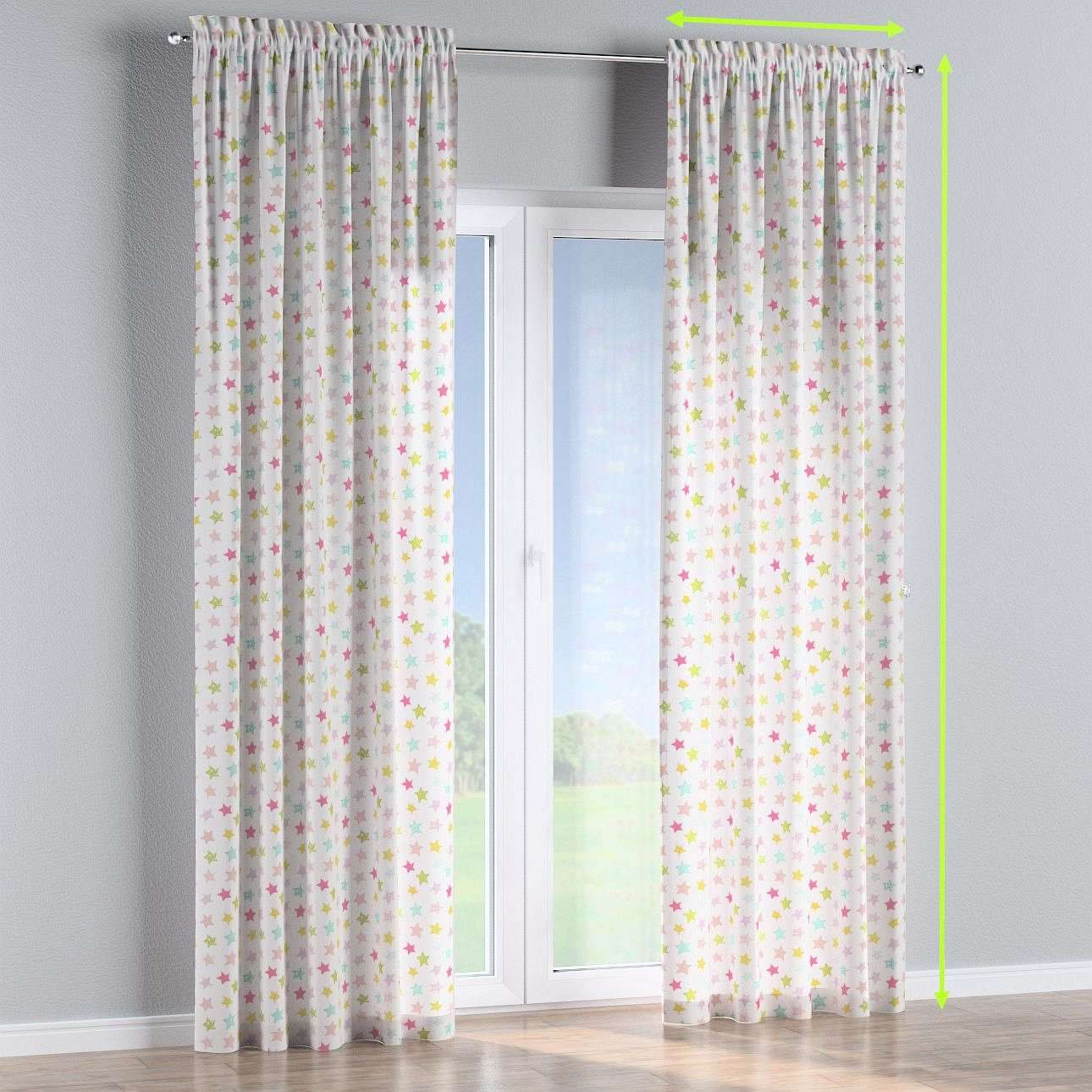 Slot and frill lined curtains in collection Little World, fabric: 141-52