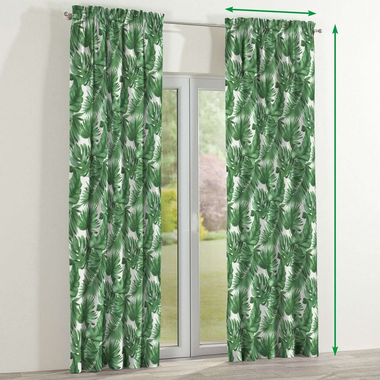 Slot and frill lined curtains in collection Urban Jungle, fabric: 141-71