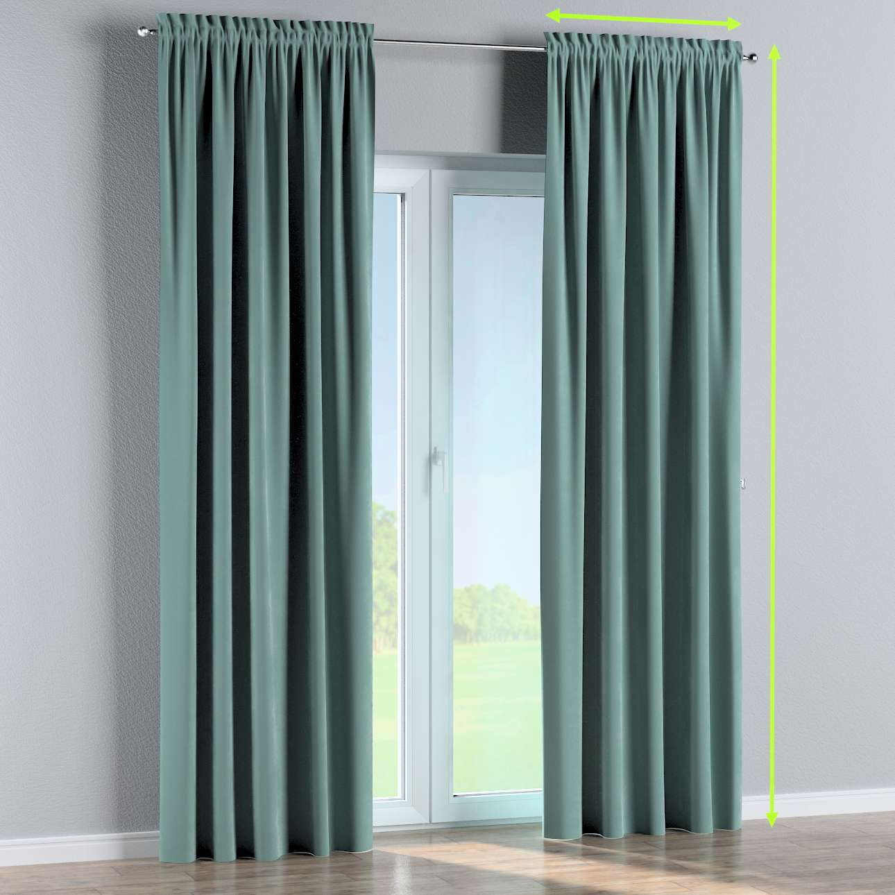Slot and frill lined curtains in collection Velvet, fabric: 704-18