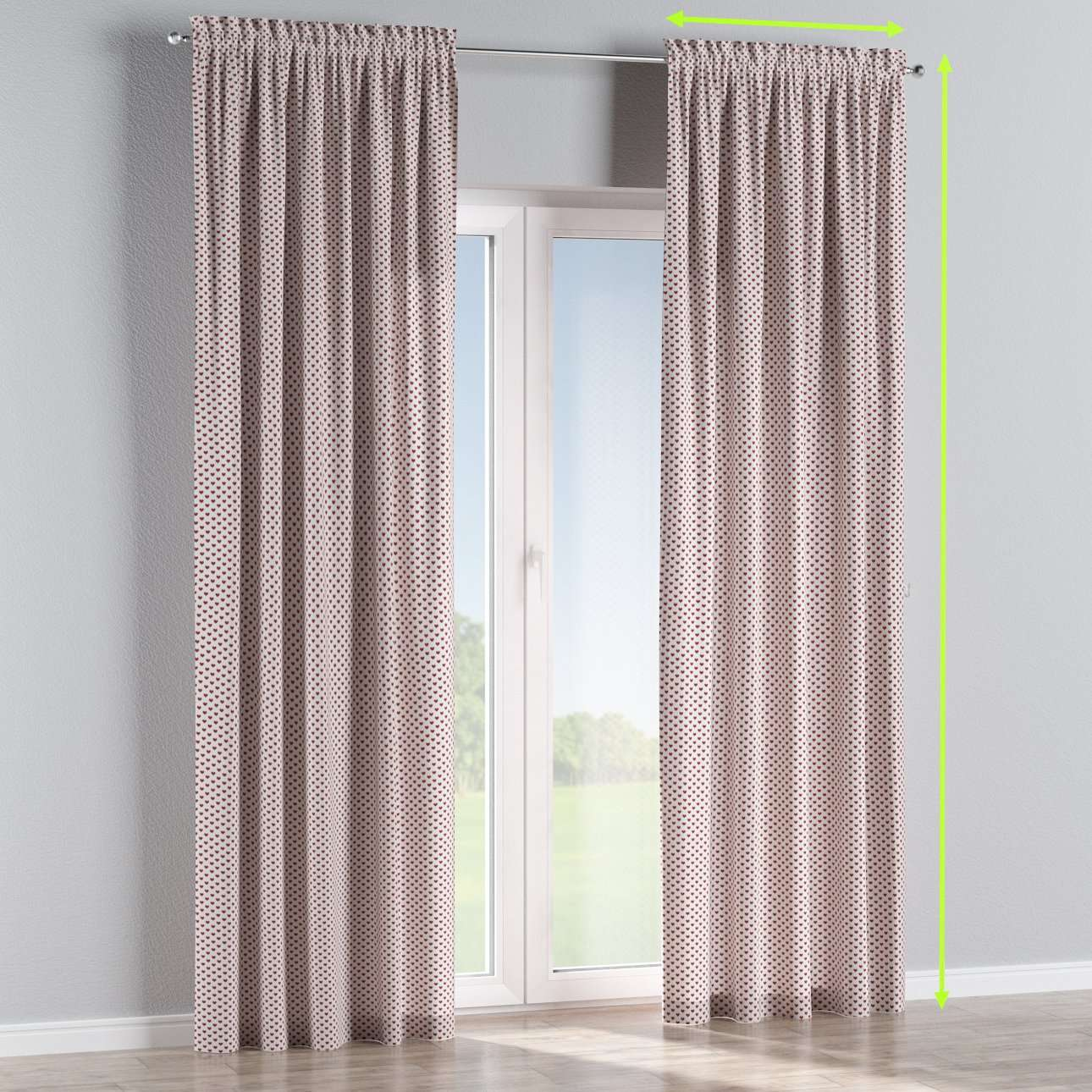 Slot and frill lined curtains in collection Nordic, fabric: 630-04