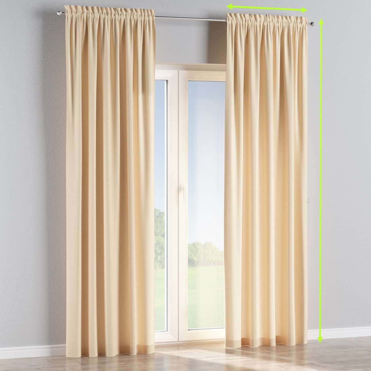 Slot and frill lined curtains in collection Chenille, fabric: 702-22