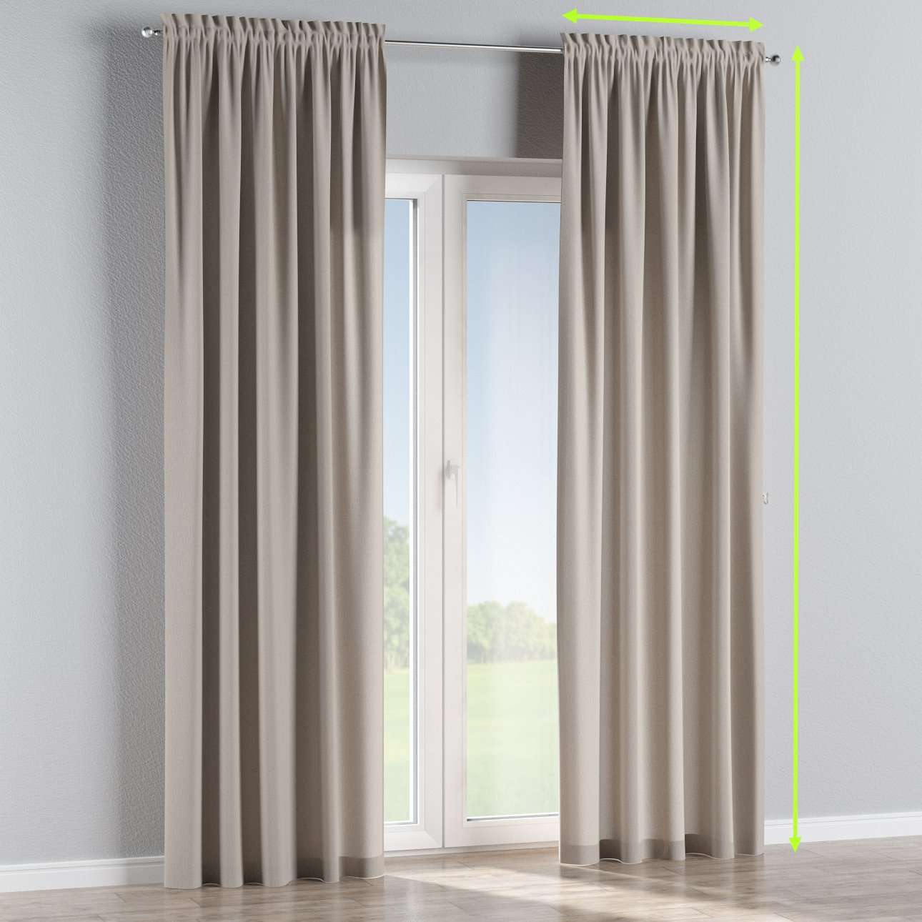 Slot and frill lined curtains in collection Chenille, fabric: 702-23