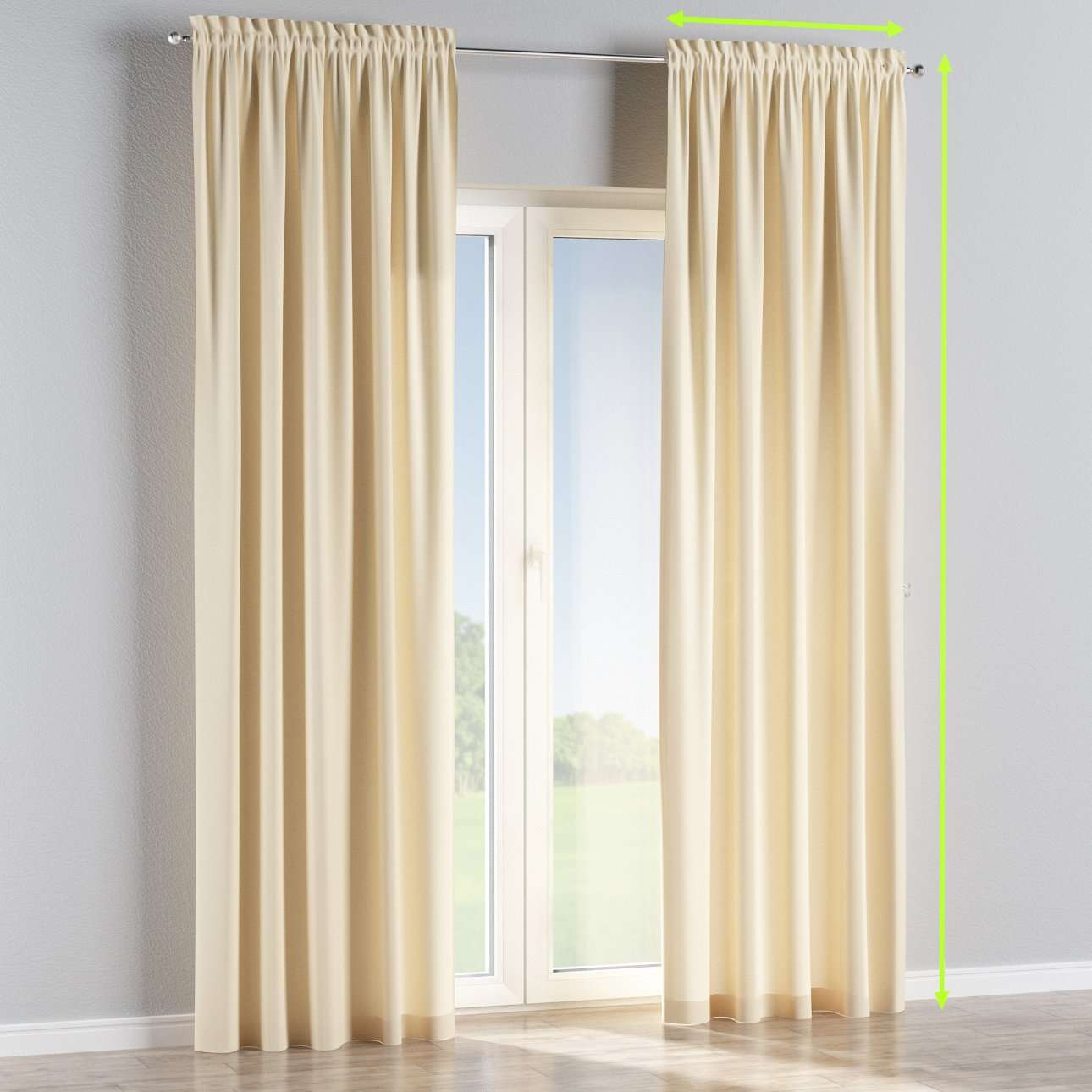 Slot and frill lined curtains in collection Panama Cotton, fabric: 702-29