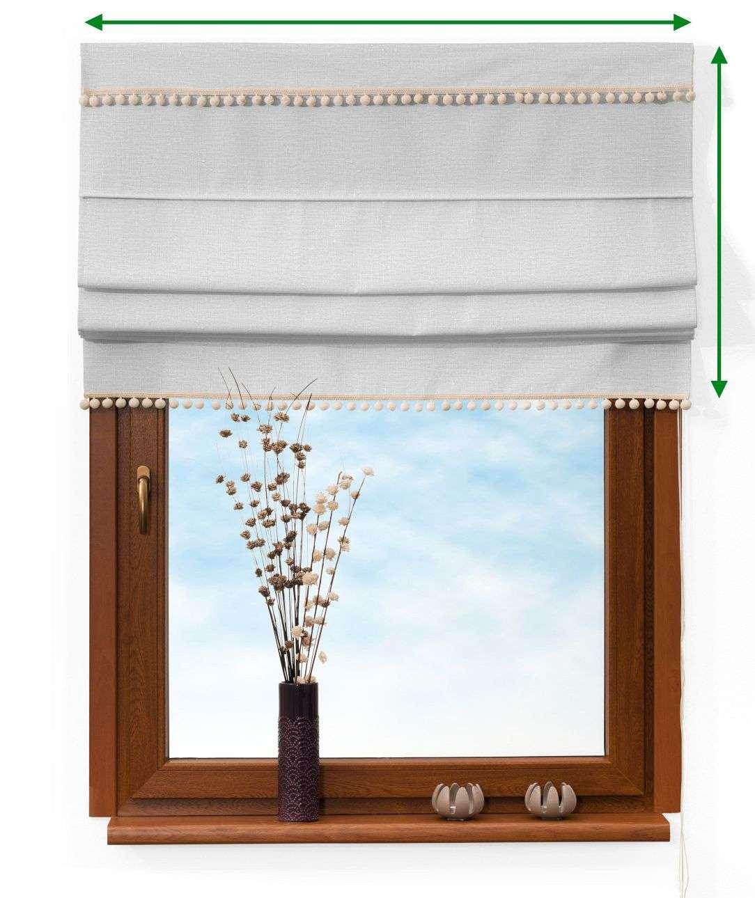 Roleta rímska s brmbolcami V kolekcii Linen, tkanina: 392-04