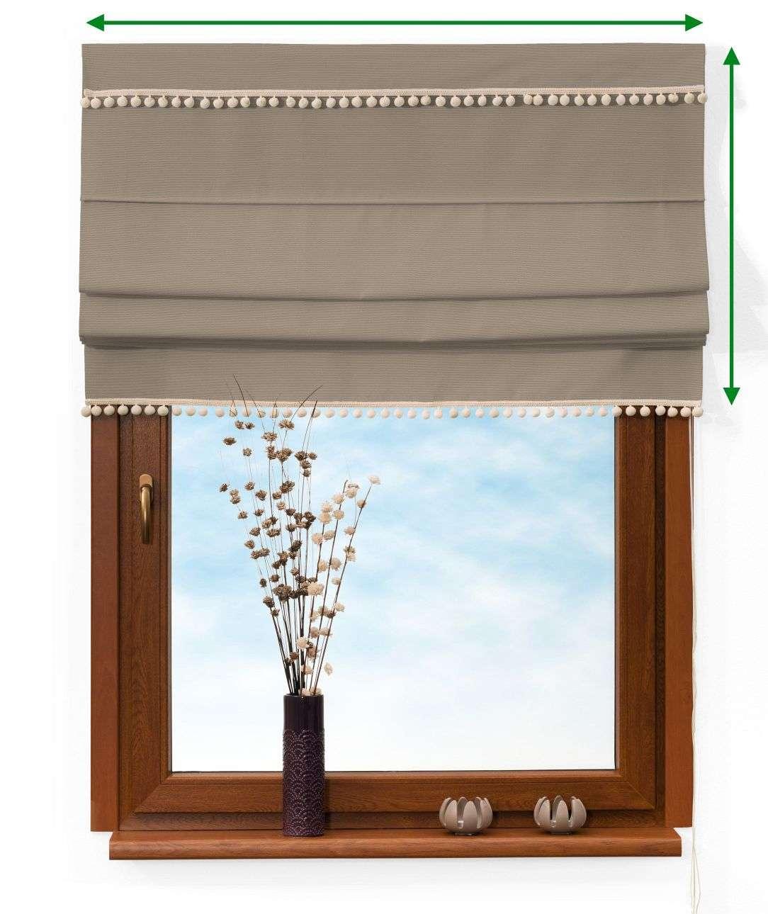 Roleta rzymska z pomponikami w kolekcji Cotton Panama, tkanina: 702-28