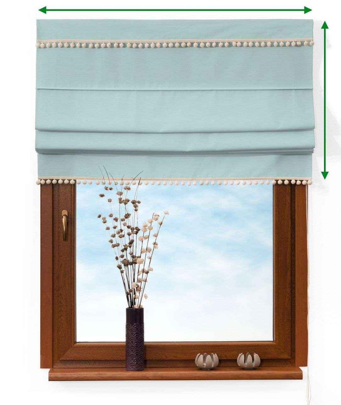 Roleta rzymska z pomponikami w kolekcji Cotton Panama, tkanina: 702-10