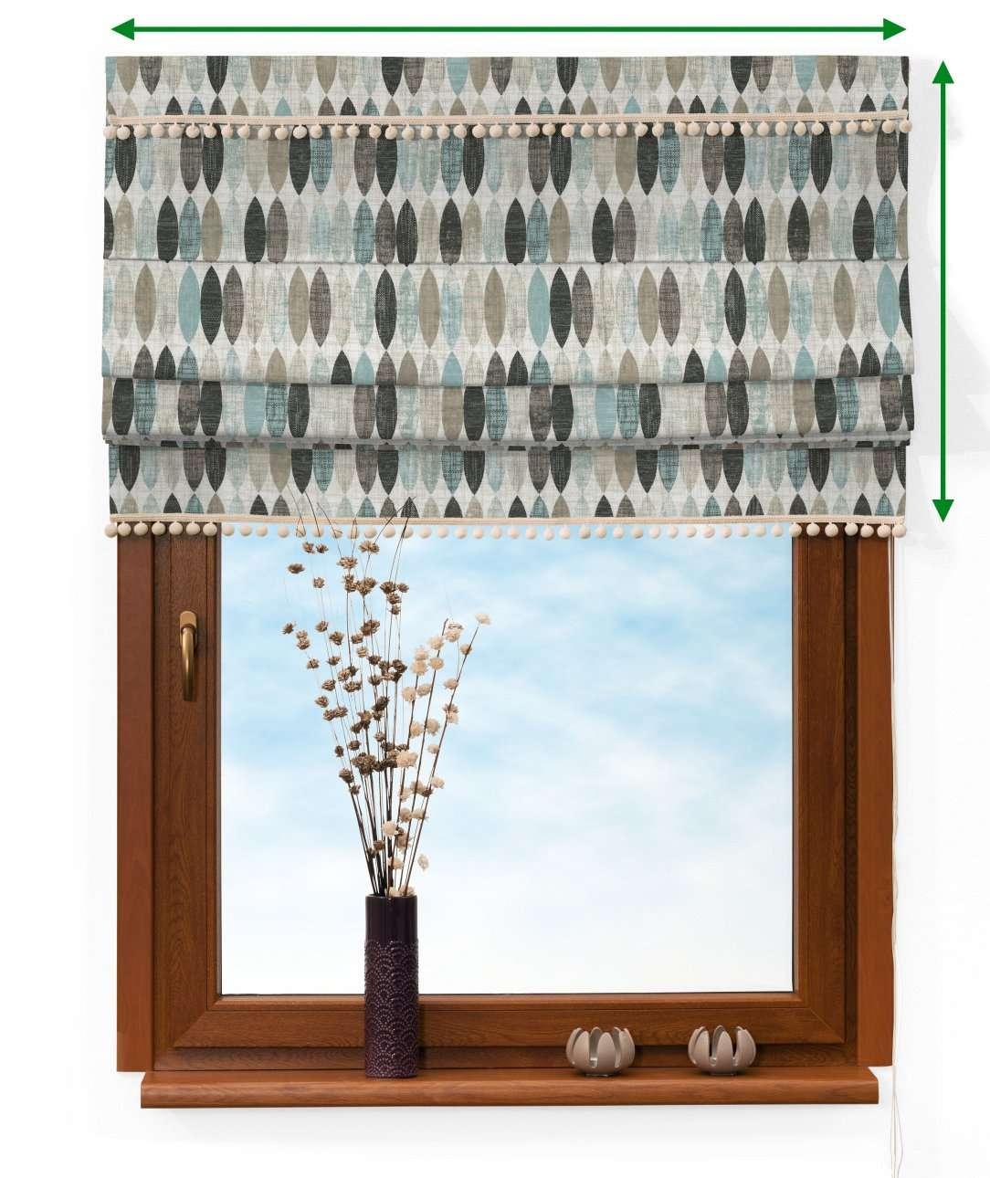 Vouwgordijn met pompons van de collectie Modern, Stof: 141-91