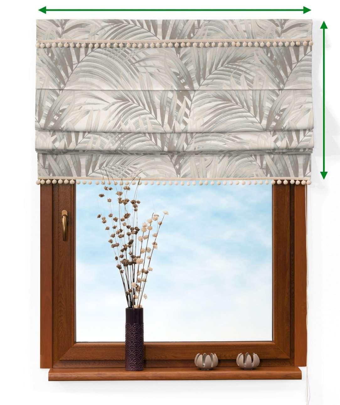 Raffrollo mit Bommeln von der Kollektion Gardenia, Stoff: 142-14