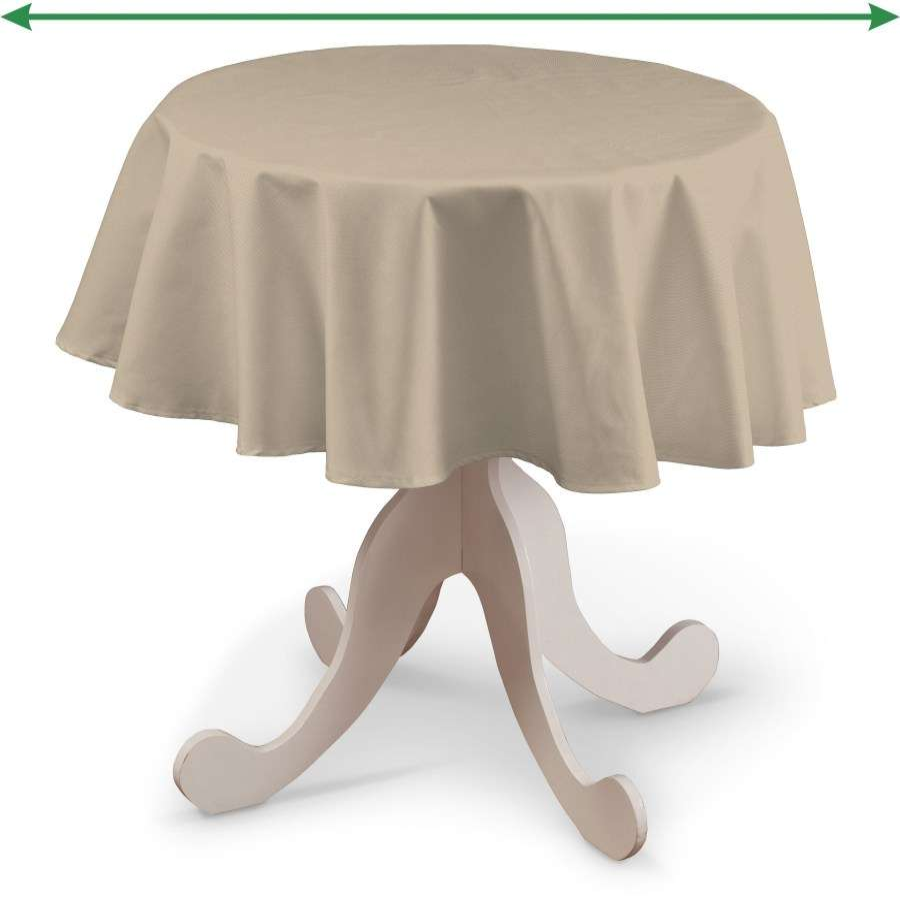 Pyöreä pöytäliina mallistosta Cotton Panama, Kangas: 702-01