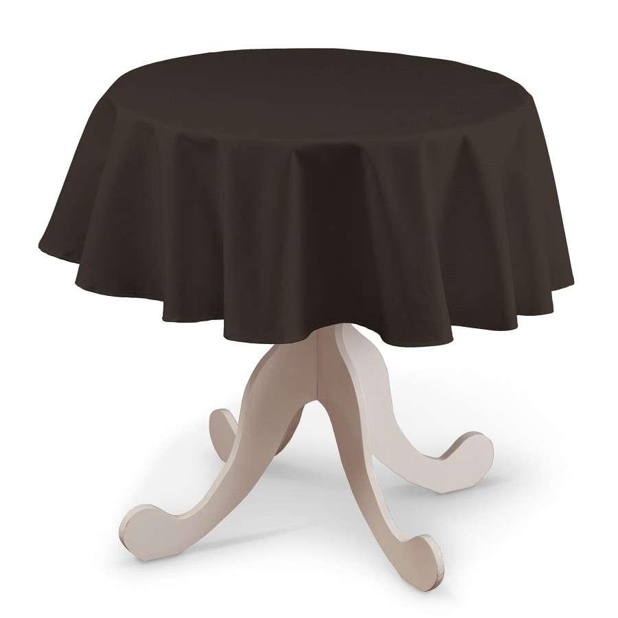 Runde Tischdecke von der Kollektion Cotton Panama, Stoff: 702-03