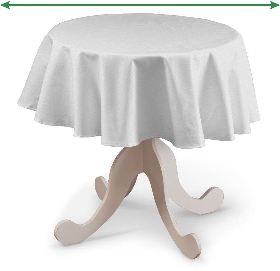 Round tablecloth in collection Linen, fabric: 392-04