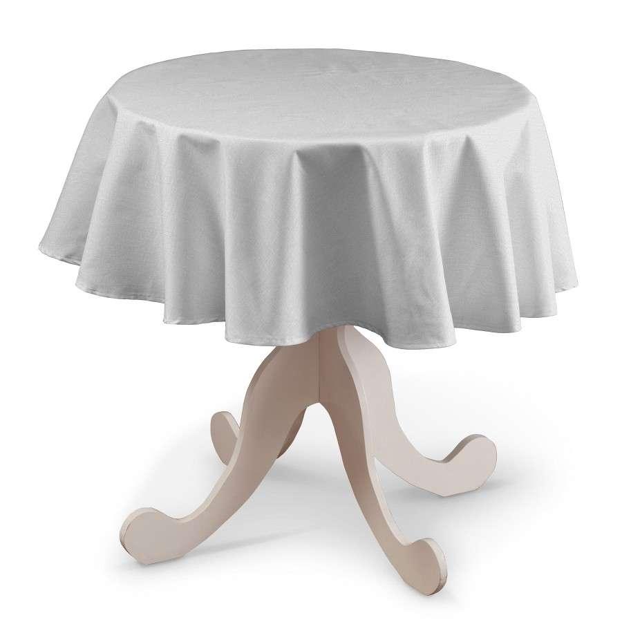Runde Tischdecke von der Kollektion Leinen, Stoff: 392-04