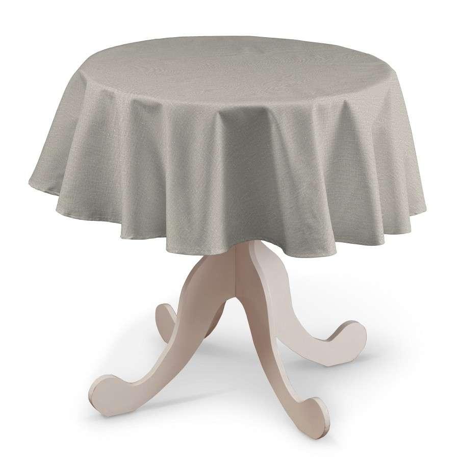 Runde Tischdecke von der Kollektion Leinen, Stoff: 392-05
