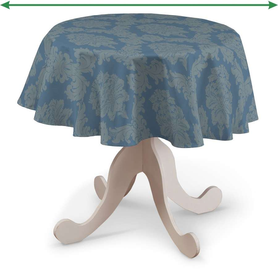 Round tablecloth in collection Damasco, fabric: 613-67